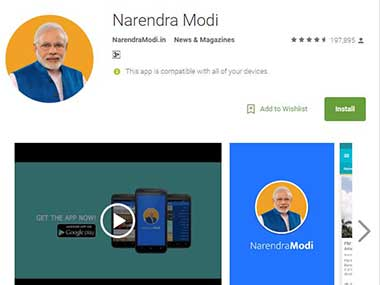 NaMo App had two lakh downloads after Congress allegations says BJP sources