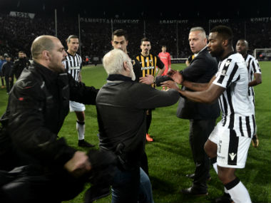 Gun-toting PAOK president Ivan Savvides faces disciplinary charges as FIFA warns Greece to take immediate action