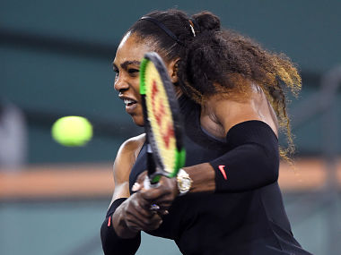 Indian Wells Serena Williams marks return to professional tennis after childbirth with solid victory in first round