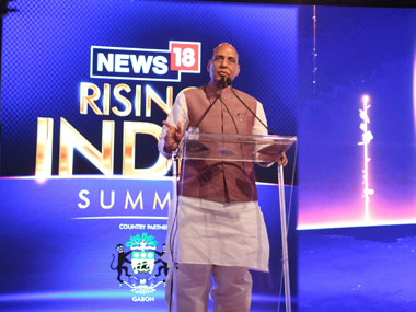 News18 Rising India Summit Rajnath Singh bats for student politics but warns against use of academic campus for political gains