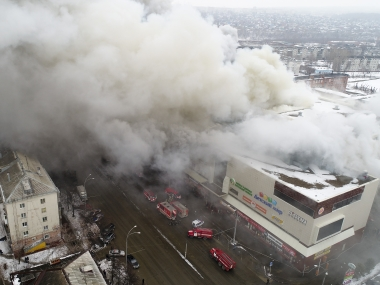 Fire engulfs shopping mall in western Siberia 37 dead scores missing as 300 rescue personnel bring blaze under control