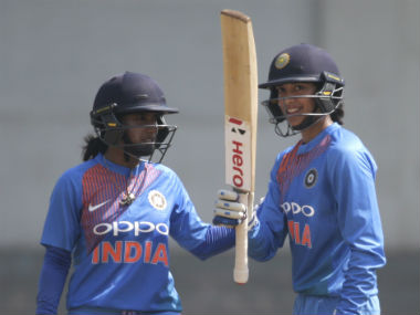 Smriti Mandhana's brilliant performances with the bat might very well fetch her the 'Player of the Series' award. AP