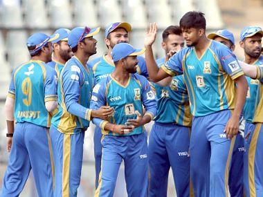 Mumbai North East thrashed North Mumbai Panthers by 34 runs on Saturday. Image courtesy: Mumbai T20 League website