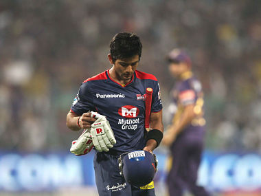 A dejected Unmukt Chand of the Delhi Daredevils after being bowled off the first ball of the tournament by Brett Lee of the Kolkata Knight Riders during the opening match between Kolkata Knight Riders and Delhi Daredevils of the Pepsi Indian Premier League held at the Eden Gardens Stadium in Kolkata on the 3rd April 2013..Photo by Shaun Roy/IPL/SPORTZPICS ..Use of this image is subject to the terms and conditions as outlined by the BCCI. These terms can be found by following this link:..http://www.sportzpics.co.za/image/I0000SoRagM2cIEc