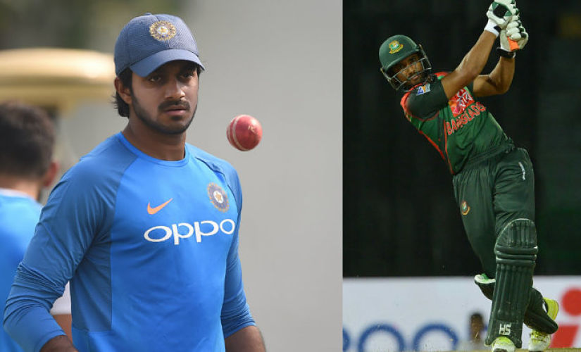 Vijay Shankar can be tricky for Mahmudullah in the Nidahas Trophy final. AFP