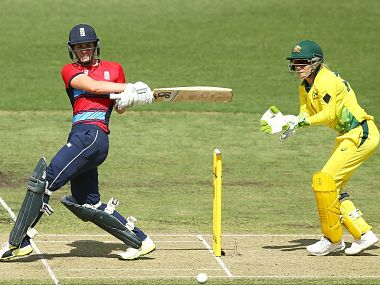 England's Natalie Sciver was adjudged the Player of the Match for her 2/29 followed by an unbeaten 43-ball 68. Image Courtesy: Twitter@ICC