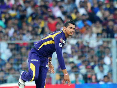 File photo of Sunil Narine in KKR colours. AFP