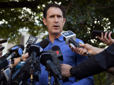 Cricket Australia CEO James Sutherland speaks to the media in Melbourne on 25 March, 2018 after addressing ball-tampering charges. AFP