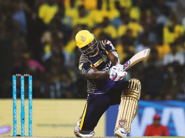 File picture of Andre Russell. Image credit: Twitter/@KKRiders