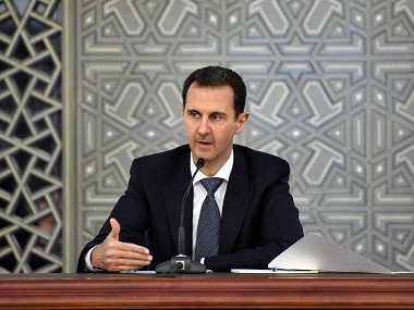 Syrian president Bashar alAssad accuses Israel of downing Russian plane calls it a result of arrogance and depravity