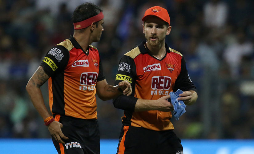 Sunrisers Hyderabad skipper Kane Williamson was regularly seen spurring his bowlers on during the second innings. Sportzpics