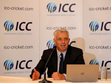Dave Richardson, chief executive of International Cricket Council (ICC), speaks during a news conference in Kolkata, India, April 26, 2018. REUTERS/Rupak De Chowdhuri - RC1493322070