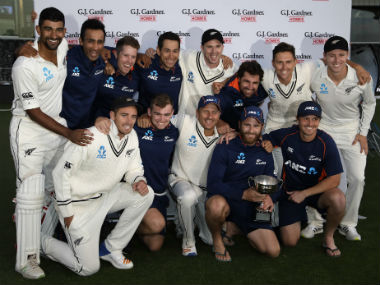New Zealand registered their first Test series win at home against England in three decades. AP