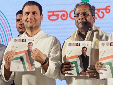 Karnataka polls Congress manifesto a potpourri of timetested freebies copies jumlas that helped Modi win 2014