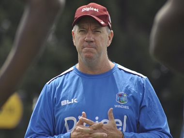 File image of Windies coach Stuart Law. Image courtesy: Twitter @westindies