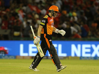 Kane Williamson captain of the Sunrisers Hyderabad walks back to the pavilion after his 54 off 41 balls. Sportzpics