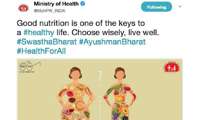Health Ministry eats its words deletes tweet after social media outrage over use of fat shaming image