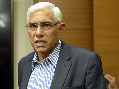 File image of CoA chief Vinod Rai. AFP