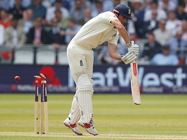 Alastair Cook lost his wicket when he was at personal score of 70 runs. AFP