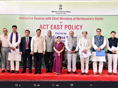 Sushma Swaraj meets North East chief ministers to propel Act East Policy towards actionoriented results