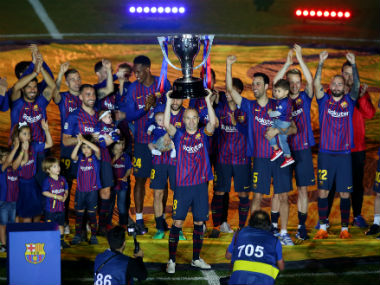 La Liga Barcelona edge past Real Sociedad as Camp Nou bids teary farewell to club legend Andres Iniesta