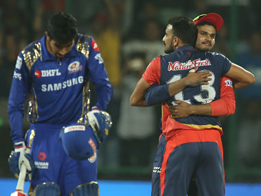 Delhi Daredevils win during match fifty five of the Vivo Indian Premier League 2018 (IPL 2018) between the Delhi Daredevils and the Mumbai Indians held at the Feroz Shah Kotla Ground, Delhi on the 20th May 2018. Photo by: Deepak Malik /SPORTZPICS for BCCI