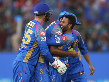 Shreyas Gopal took four wickets including the one of AB de Villiers to help Rajasthan Royals beat Royal Challengers Bangalore. Sportzpics
