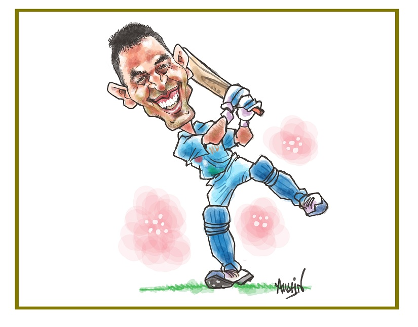 That Dhoni has played seven of the 10 IPL finals, till date, isn't coincidence. Image courtesy Austin Coutinho