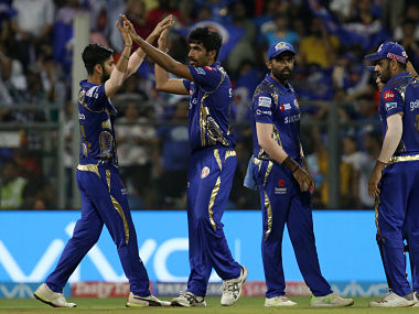 Jasprit Bumrah of the Mumbai Indians celebrates the wicket of Marcus Stoinis of the Kings XI Punjab during match fifty of the Vivo Indian Premier League 2018 (IPL 2018) between the Mumbai Indians and the Kings XI Punjab held at the Wankhede Stadium in Mumbai on the 16th May 2018. Photo by: Faheem Hussain /SPORTZPICS for BCCI