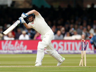 Jonny Bairstow is clean bowled for a score of 27. Reuters