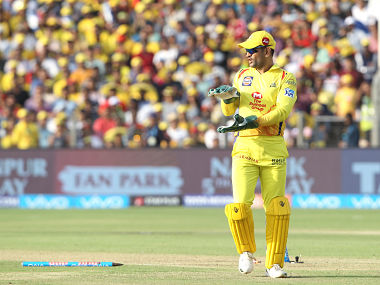 MS Dhoni of the Chennai Superkings during match thirty five of the Vivo Indian Premier League 2018 (IPL 2018) between the Chennai Super Kings and the Royal Challengers Banaglore held at the Maharashtra Cricket Association Cricket Stadium, Pune on the 5th May 2018. Photo by: Luke Walker /SPORTZPICS for BCCI