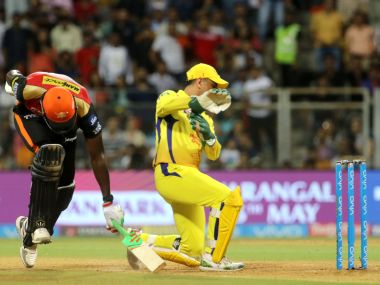 MS Dhoni in action against Sunrisers Hyderabad in Qualifier 1 of IPL 2018. Sportzpics