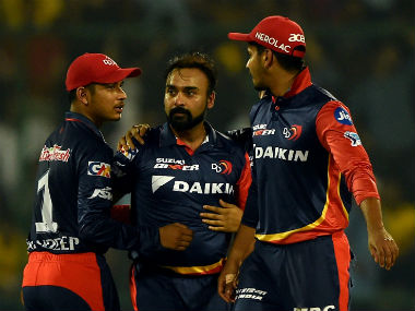 Sandeep Lamichhane and Amit Mishra were instrumental in drying up the runs in the middle overs of the CSK innings. AFP