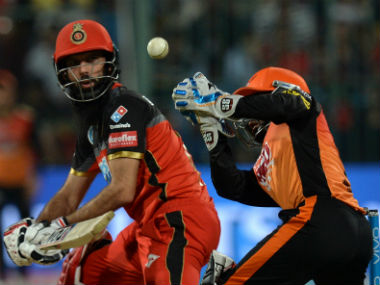 Royal Challengers Bangalore's Moeen Ali plays a shot against Sunrisers Hyderabad. AFP