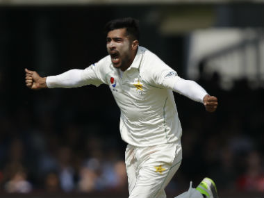 Mohammad Amir had earlier collected six wickets in the first Test against England at Lord's. AP