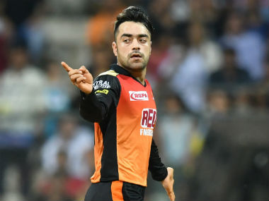 File image of Rashid Khan celebrating a wicket for Sunrisers Hyderabad. AFP