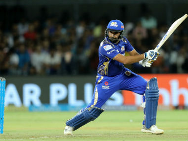 MI captain Rohit Shaarma in IPL action against KXIP at Indore. Sportzpics
