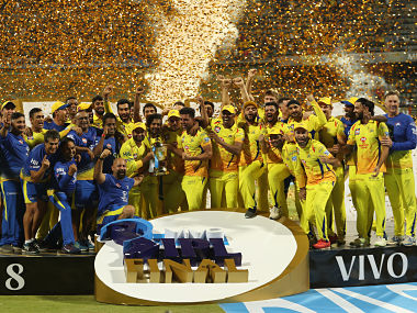Chennai Super Kings are crowned champions during the Final of the Vivo Indian Premier League 2018 (IPL 2018) between the Chennai Super Kings and the Sunrisers Hyderabad held at the Wankhede Stadium in Mumbai on the 27th May 2018. Photo by: Ron Gaunt /SPORTZPICS for BCCI