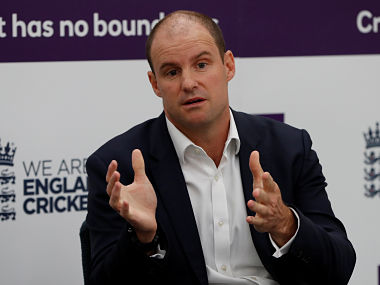 Cricket - England Test squad announcement for the tour of Australia - Kia Oval, London, Britain - September 27, 2017 ECB Director of Cricket Andrew Strauss speaks to the media during the announcement Action Images via Reuters/Paul Childs - RC1112EACDC0