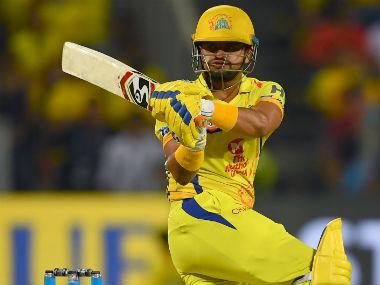 Chennai Super Kings' Suresh Raina plays a shot against Kings XI Punjab. AFP