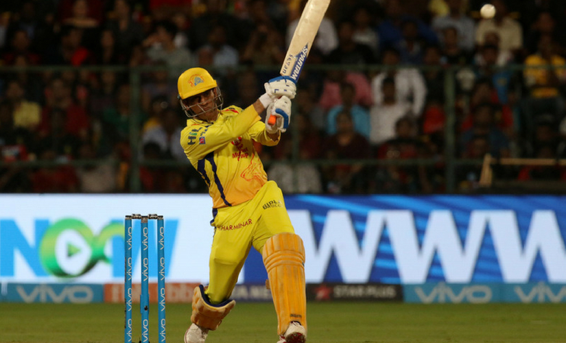 MS Dhoni in action during IPL 2018. Sportzpics