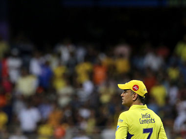 MS Dhoni captain of the Chennai Superkings looks on during the qualifier 1 match of the Vivo Indian Premier League 2018 (IPL 2018) between the Sunrisers Hyderabad and the Chennai Super Kings held at the Wankhede Stadium in Mumbai on the 22nd May 2018. Photo by: Vipin Pawar /SPORTZPICS for BCCI
