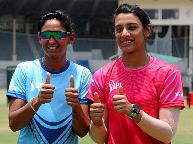Harmanpreet Kaur (L) and Smirti Mandhana respectively captained the one-off T20 exhibition match during IPL last year: Twitter @IPL