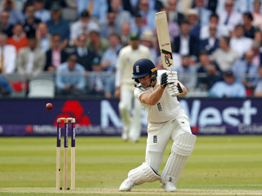 Jos Buttler stitched up an all-importatn ubroken century stand with Dominic Bess. AP