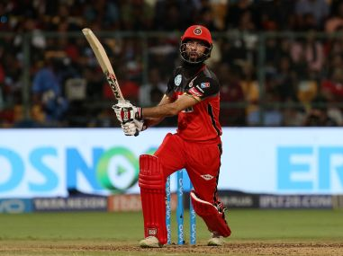 Moeen Ali of Royal Challengers Bangalore plays a shot against Sunrisers Hyderabad. Sportzpics