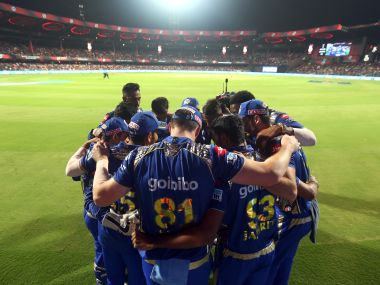 Mumbai Indians players in a huddle before the start of an IPL match. Image used for representative purpose