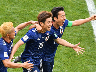 FIFA World Cup 2018 Yuya Osako heads Japan to historic win over 10man Colombia in Group H opener