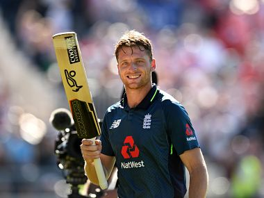 Jos Buttler smashed 110 off 122 balls to guide England home in 5th ODI against Australia. AFP