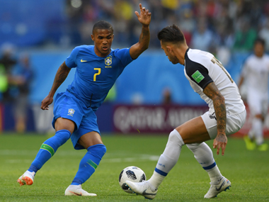 FIFA World Cup 2018 Brazils Douglas Costa ruled out of match against Serbia with thigh injury