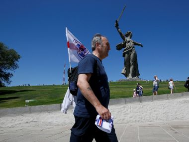 FIFA World Cup 2018 In hero city of Volgograd England fans see a glimpse of Russian soul